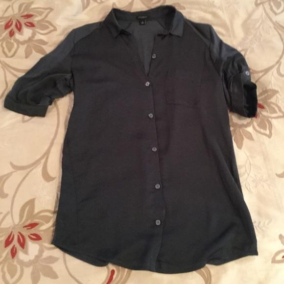 5773d66af304b8 Ann Taylor Tops | Classic Emerald Green Button Down Shirt Nwot ...